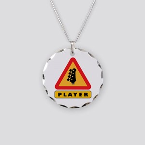 Electric Bass Player Caution Sign Necklace