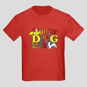 Welsh Springer Spaniel Agility Kids Dark T-Shirt