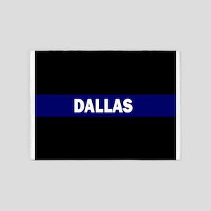 DALLAS POLICE LIVES MATTER 5'x7'Area Rug