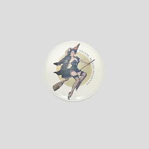 Vintage Salem Witch Mini Button
