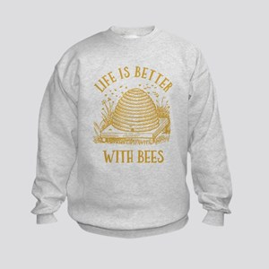 Life's Better With Bees Kids Sweatshirt