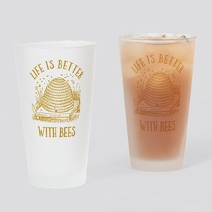 Life's Better With Bees Drinking Glass