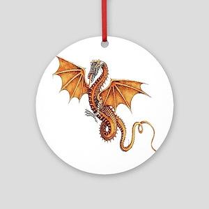 Fantasy Dragon Ornament (Round)