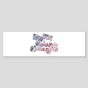 Sprint Car Scribble Sticker (Bumper)