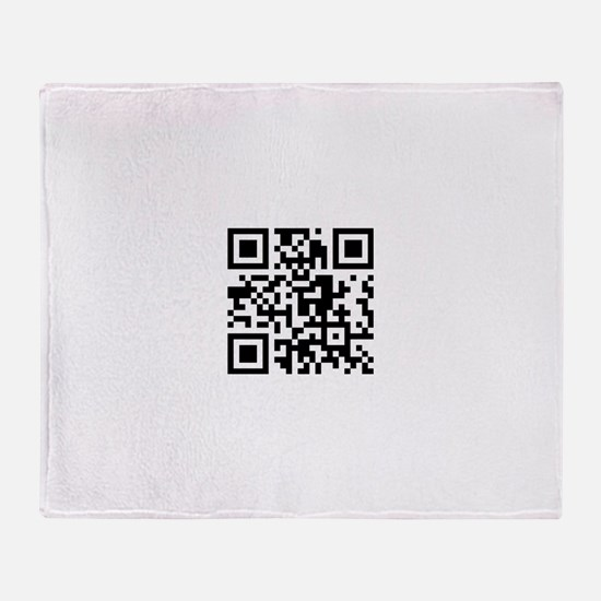 Cool Barcode Throw Blanket