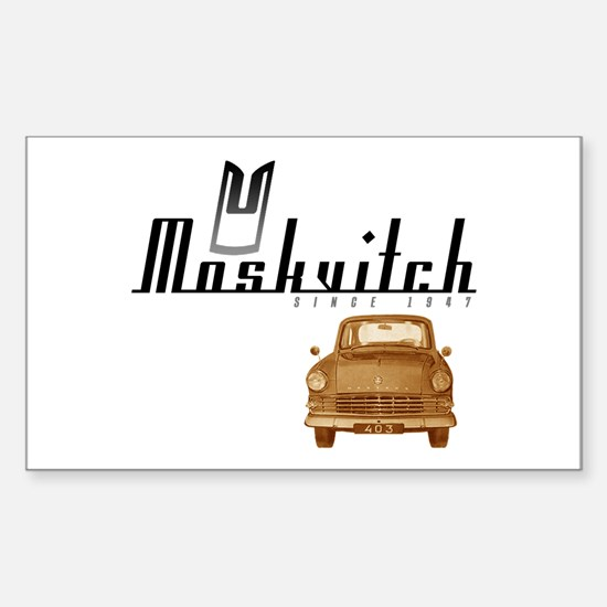 Moskvitch Rectangle Decal