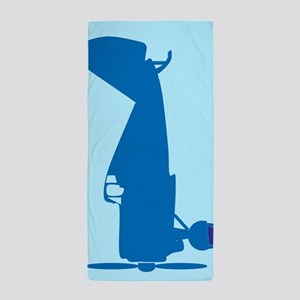 Blue Airplane Beach Towel