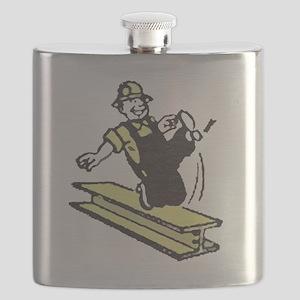 Throwback Steelers Flask