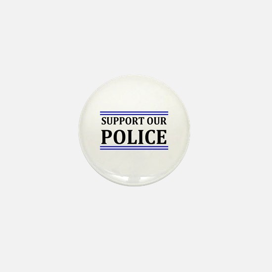 Support Our Police Mini Button