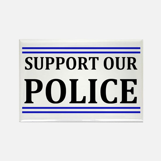 Support Our Police Rectangle Magnet