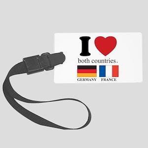 GERMANY-FRANCE Large Luggage Tag