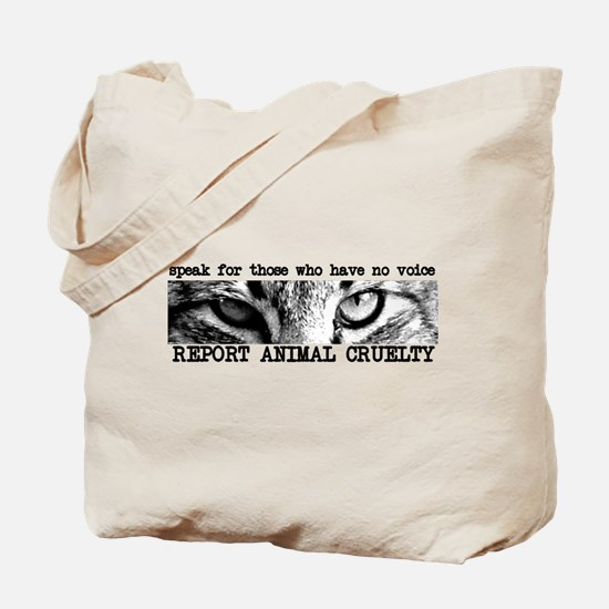 Report Animal Cruelty Cat Tote Bag