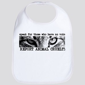 Report Animal Cruelty Cat Bib