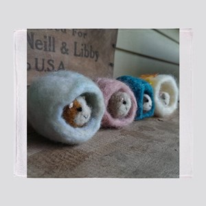 Guinea Pig Caves Throw Blanket