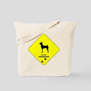 Basenji Crossing Tote Bag