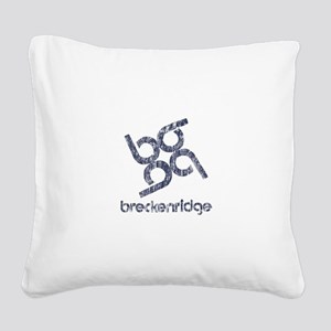 Vintage Breckenridge Square Canvas Pillow