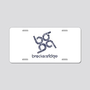 Vintage Breckenridge Aluminum License Plate