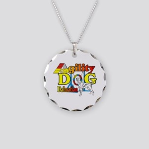 Dalmatian Agility Necklace Circle Charm