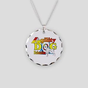 Dalmatian Agility Necklace Circle Charm