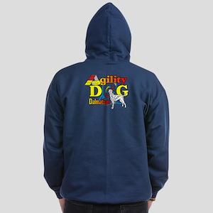 Dalmatian Agility Zip Hoodie (dark)