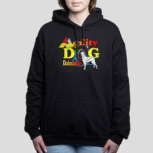 Dalmatian Agility Women's Hooded Sweatshirt