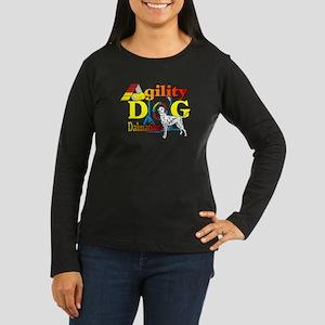 Dalmatian Agility Women's Long Sleeve Dark T-Shirt