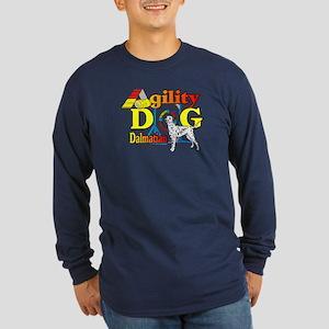 Dalmatian Agility Long Sleeve Dark T-Shirt