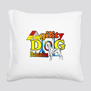 Dalmatian Agility Square Canvas Pillow