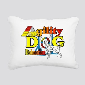 Dalmatian Agility Rectangular Canvas Pillow