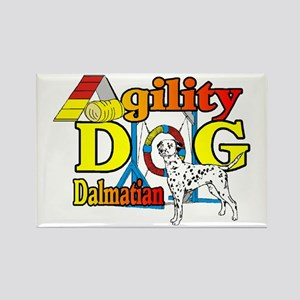 Dalmatian Agility Rectangle Magnet (10 pack)