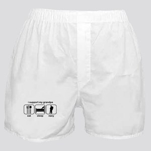 Eat Sleep Navy - Support Grndpa Boxer Shorts