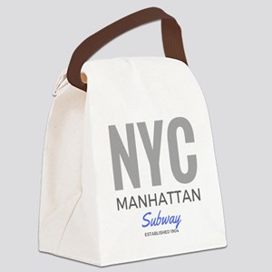NYC Manhattan Subway Canvas Lunch Bag
