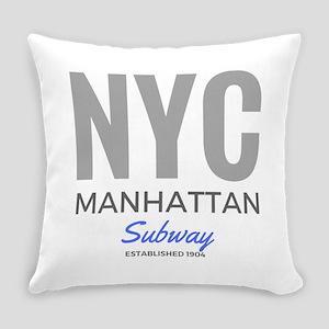 Nyc Manhattan Subway Everyday Pillow