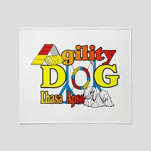 Lhasa Apso Agility Throw Blanket