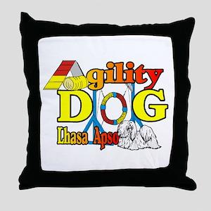 Lhasa Apso Agility Throw Pillow