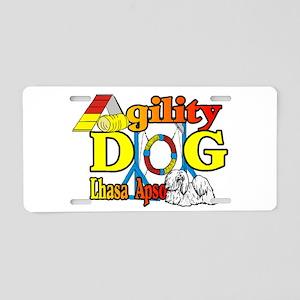 Lhasa Apso Agility Aluminum License Plate