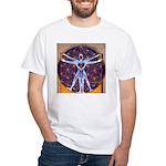 Vitruvian Man Mural/Source Within White T-Shirt