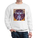 Vitruvian Man Mural/Source Within Sweatshirt