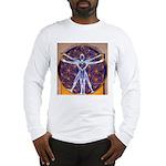 Vitruvian Man Mural/Source Wit Long Sleeve T-Shirt