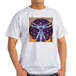 Vitruvian Man Mural/Source Within Light T-Shirt