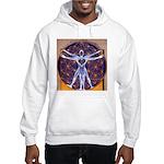 Vitruvian Man Mural/Source Withi Hooded Sweatshirt
