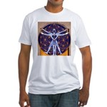 Vitruvian Man Mural/Source Within Fitted T-Shirt