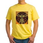 Vitruvian Man Mural/Source Within Yellow T-Shirt