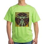 Vitruvian Man Mural/Source Within Green T-Shirt