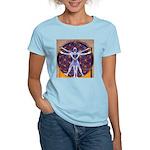 Vitruvian Man Mural/Source W Women's Light T-Shirt