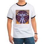 Vitruvian Man Mural/Source Within Ringer T