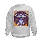 Vitruvian Man Mural/Source Within Kids Sweatshirt