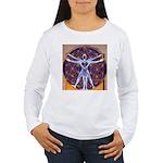 Vitruvian Man Mural/So Women's Long Sleeve T-Shirt