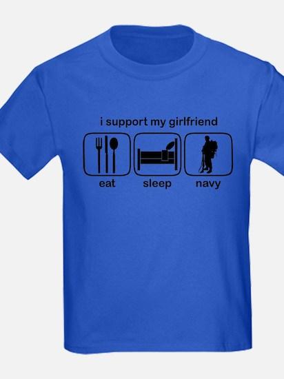 Eat Sleep Navy - Support GF T