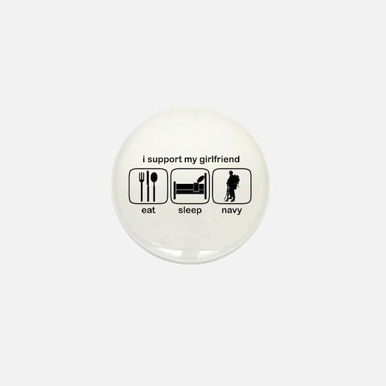 Eat Sleep Navy - Support GF Mini Button